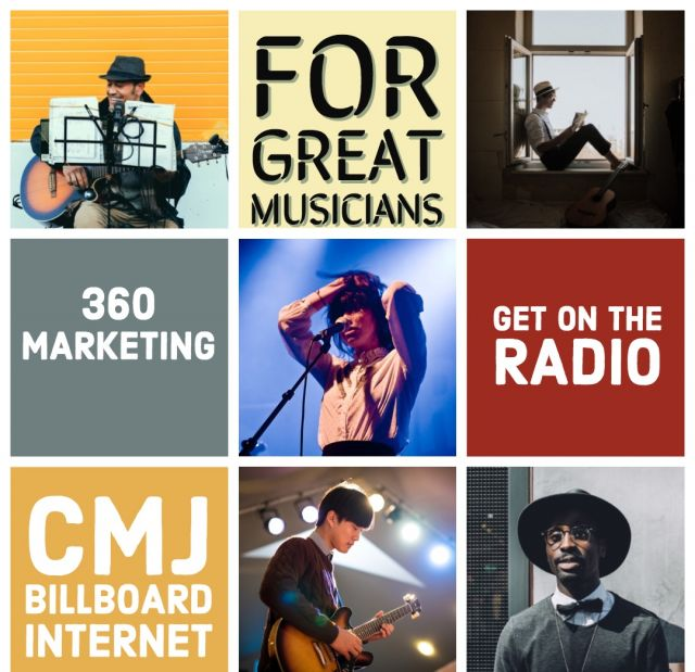Music promotions radio, press, college for $10